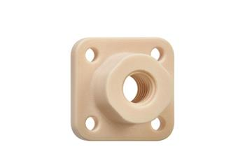 drylin® injection-moulded lead screw nuts with flange, thread: injection moulding, JFRM