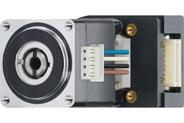 drylin® E lead screw stepper motor with strands and encoder, NEMA 11, short type