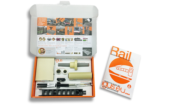 Rail technology sample box