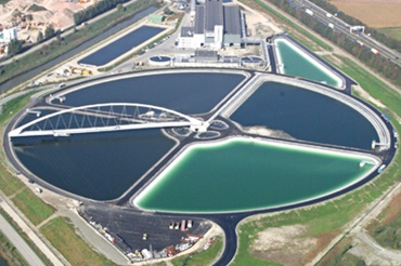 Air view of the sludge treatment plant