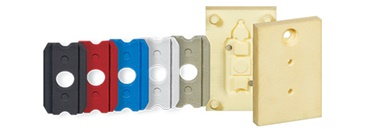 3D-printed injection moulding tool with manufactured component inside it