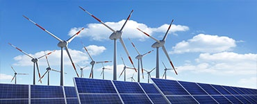 Renewable energies solar and wind